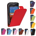 Высокое Качество Натуральная Кожа Флип Дело Чехол Для Samsung Galaxy Ace 2 I8160 8160 Реальная Мобильный Телефон Случаях Мешки Защиты Shell