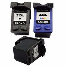 3 x картриджи для HP 21 22 XL 21XL HP21XL HP21 HP22 C9351A C9352A Deskjet F2140 F2180 F2187 F2188 F2210 F2212 F2214 printe