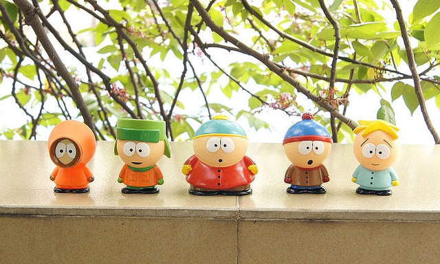 10 sets (5 pcs/set) South Park  Stan Kyle Eric Kenny Leopard Mini Classic Toys For Kids Gift Free Shipping