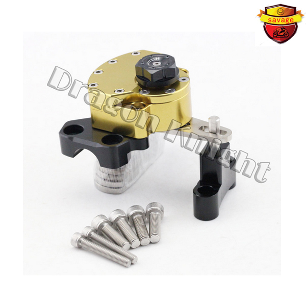 For HONDA HORNET CB600F 2007-2013 Motorcycle Reversed Safety Adjustable Steering Damper Stabilizer with Mount Bracket