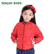 SOGNI KIDS Girls down jacket 50% duck down children outerwear for new spring brand fashion girls clothes high quality
