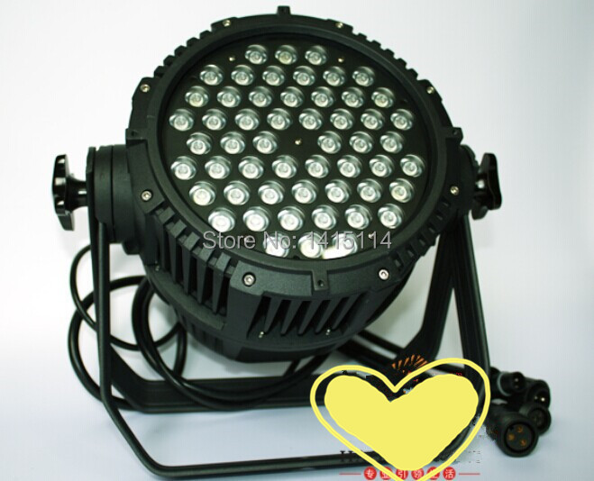 6pcs/lot cheap led wash light outdoor gobo projector 54pcs RGBW 3W Waterproof led par light