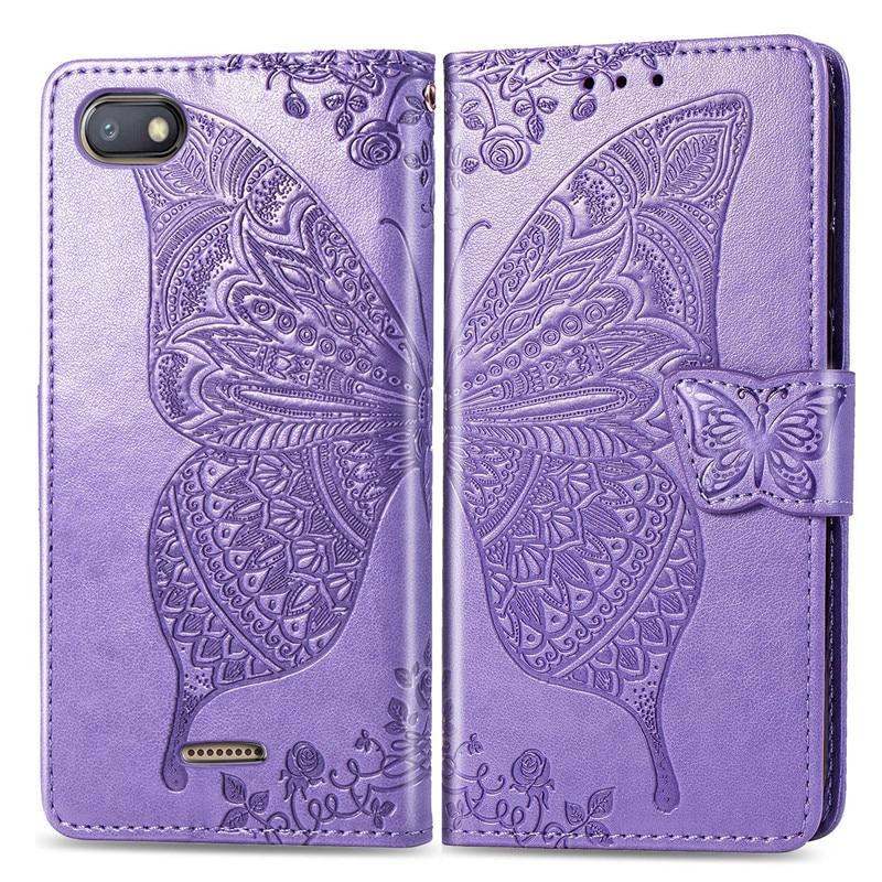 3D Butterfly Wallet Flip Case For Xiaomi Redmi 8 7A 6A 5 Plus 4A 4X Note 8 8T 5A 4 5 7 6 Pro Go Mi A1 5X A2 8 Lite 7A 8A Cover