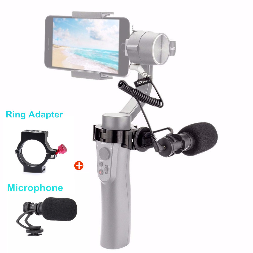 Comica CVM-VM10 II Cardioid Directional Video Phone Microphone for DJI OSMO Mobile Smartphone GoPro Micro Camera Mount comica cvm vm10 ii microphone for dji osmo mobile plus smartphone gopro micro camera cardioid directional shotgun microphone