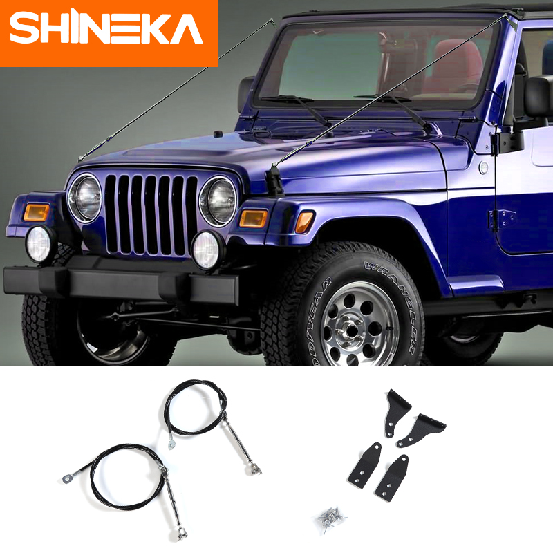 SHINEKA Protective Frames For Jeep Wrangler Tj 1997-2006 Limb Riser Kit Obstacle Eliminate Rope Deflect Hanging Branches Brush