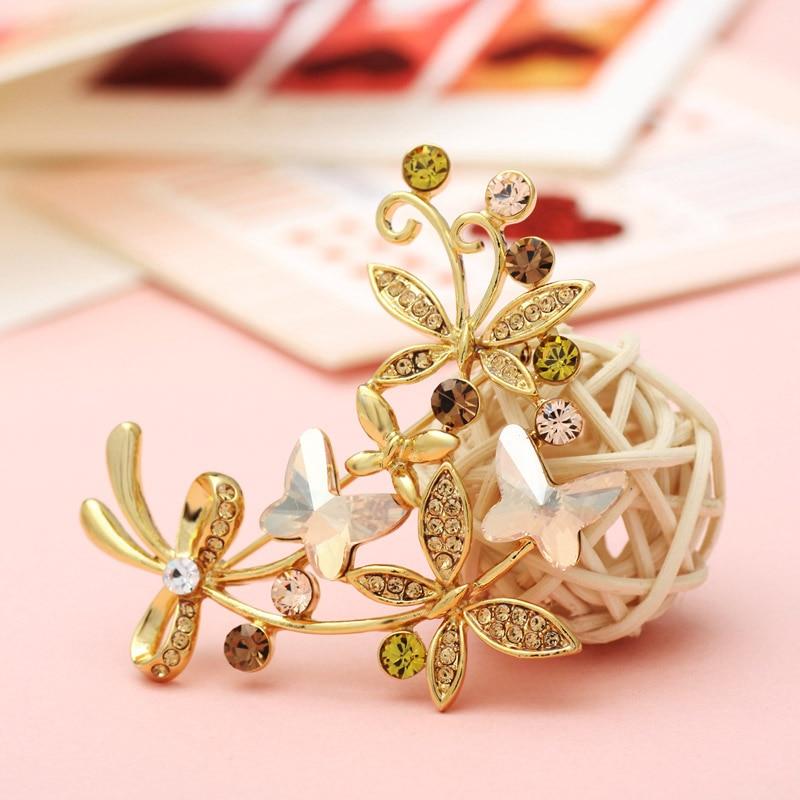 Neoglory австрийская брошь со стразами-кристаллами, дизайн бабочки, ювелирное изделие, подарок, новинка,, подарок для