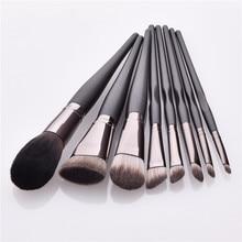 8pcs/set Makeup Brushes Set for Kabuki Face Powder Blush Brush Flat Foundation Brush Set Cosmetic Tools T08078 недорого