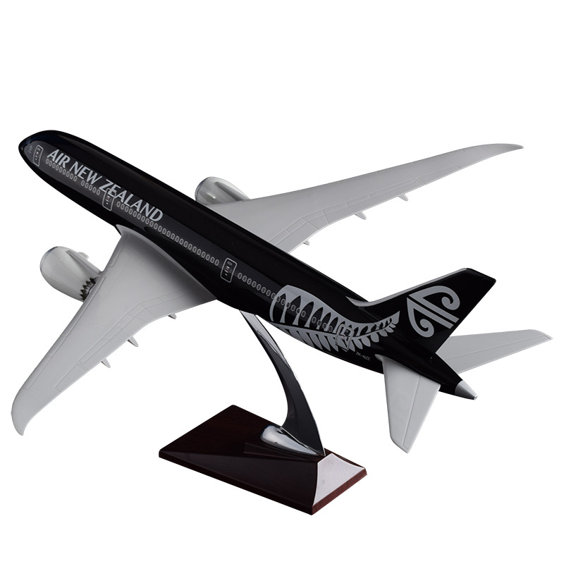 43cm Resin Boeing 787 New Zealand Airline Model Air New Zealand Airplane Aircraft Model B787 Airways Airbus Aviation Stand Craft new phoenix 11207 b777 300er pk gii 1 400 skyteam aviation indonesia commercial jetliners plane model hobby
