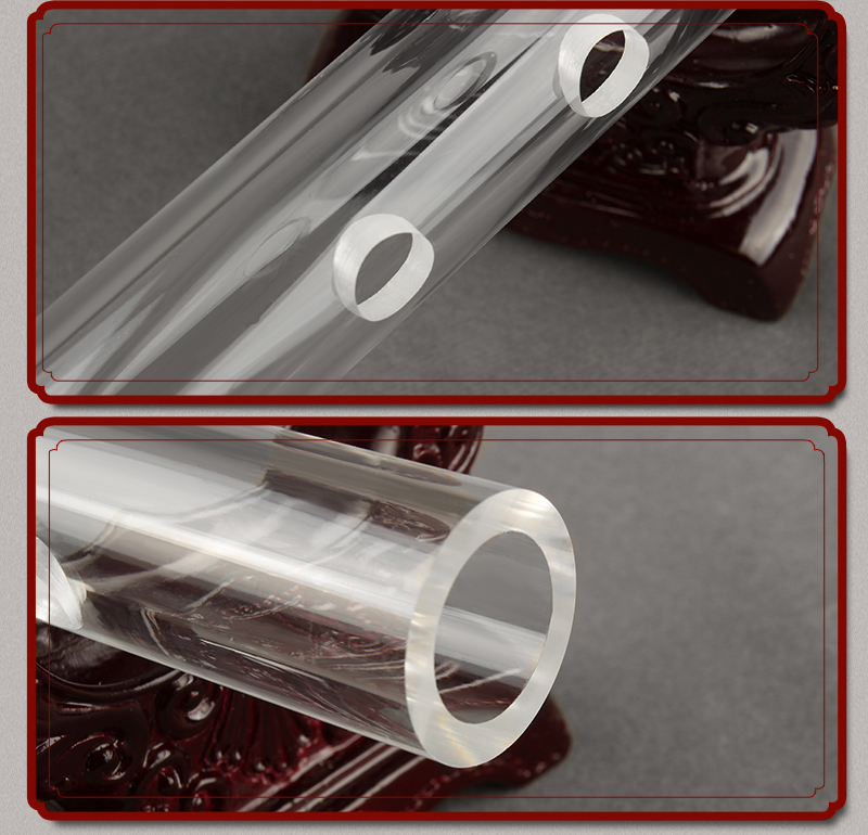 Акриловая прозрачная флейта для мытья воды без трещин D ключ 6 отверстий музыкальный инструмент духовой инструмент DIZI флейта