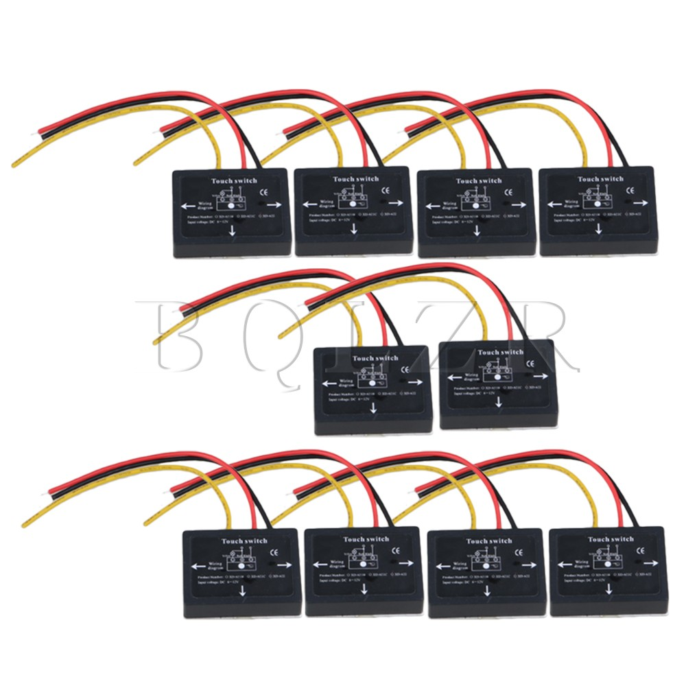 10pcs Bqlzr Black 6 12vdc Xd 622 On Off Touch Switch For Led Lamp Junction Box Wiring Bq Bulb Isolated Sensor In Switches From Lights Lighting Alibaba Group