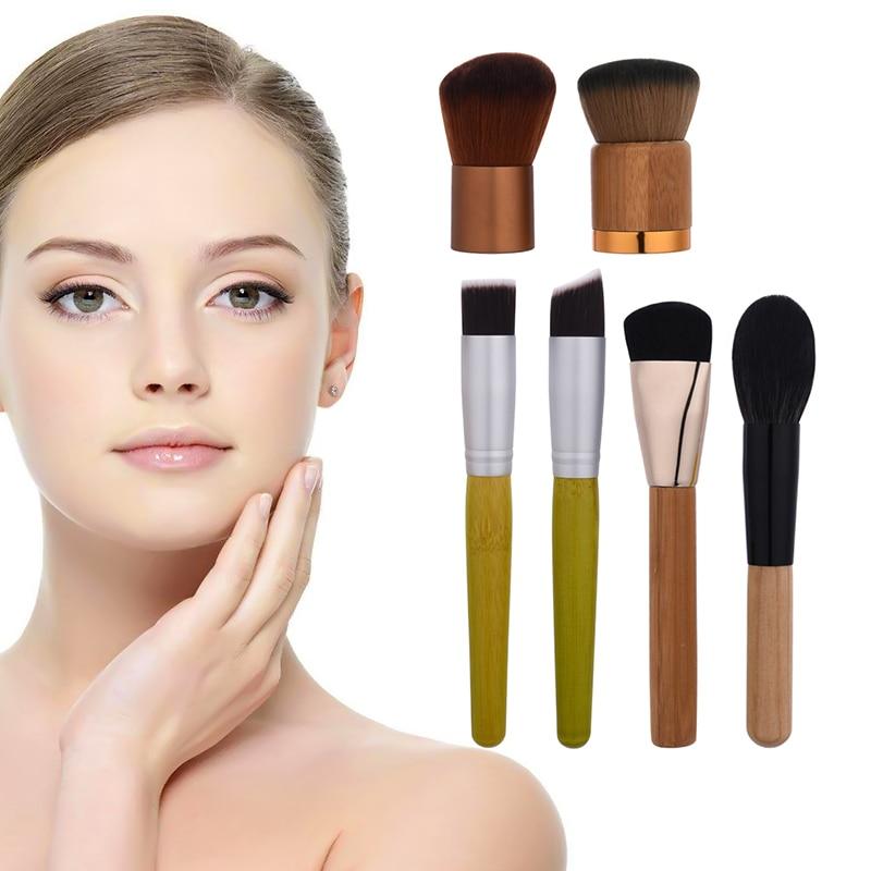 Bamboo Handle Powder Concealer Foundation Brush Facial Mask Brushes Beauty Face Make up Cosmetics Brushes new 6pcs bamboo handle makeup brushes powder concealer foundation brush facial mask brushes beauty face make up cosmetics brushe
