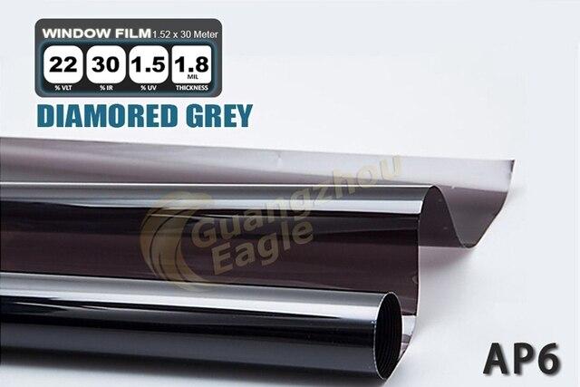 1.52*30m High-performance PET Car Solar Window Tint Film window Foil Free Shipping /Diamond Gray/ AP-6