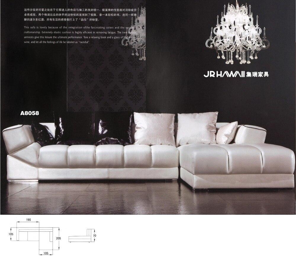 Top Quality Good Design Living Room Sofa Set Genuine Leather Sofa Set  8058(china)
