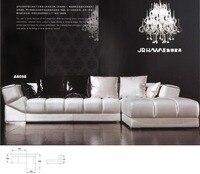 Top quality good design living room sofa set genuine leather sofa set 8058