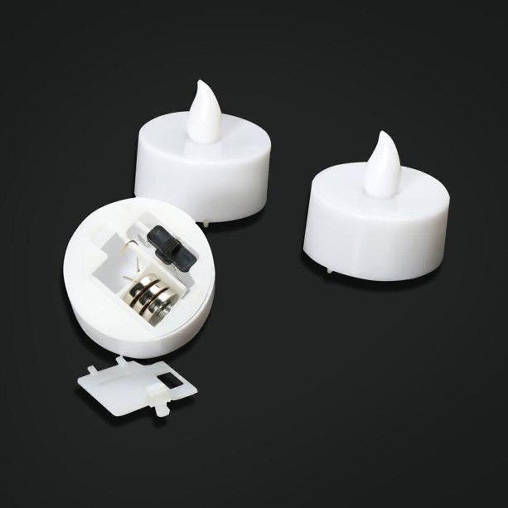 6 шт./компл. светодиодный Чай светильник свечи реалистичные Батарея-приведенный в действие беспламенные Свечи одежда для свадьбы, дня рождения украшения свечи# T2