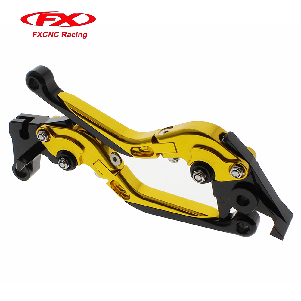 Fx Cnc Extending Folding Motorcycle Clutch Brake Lever For KAWASAKI ZZR1400 ZX1400 S Version 2016 Spare Parts Moto Levers motorcycle levers clutch and brake folding lever for xl883 1200 x48 moto modification