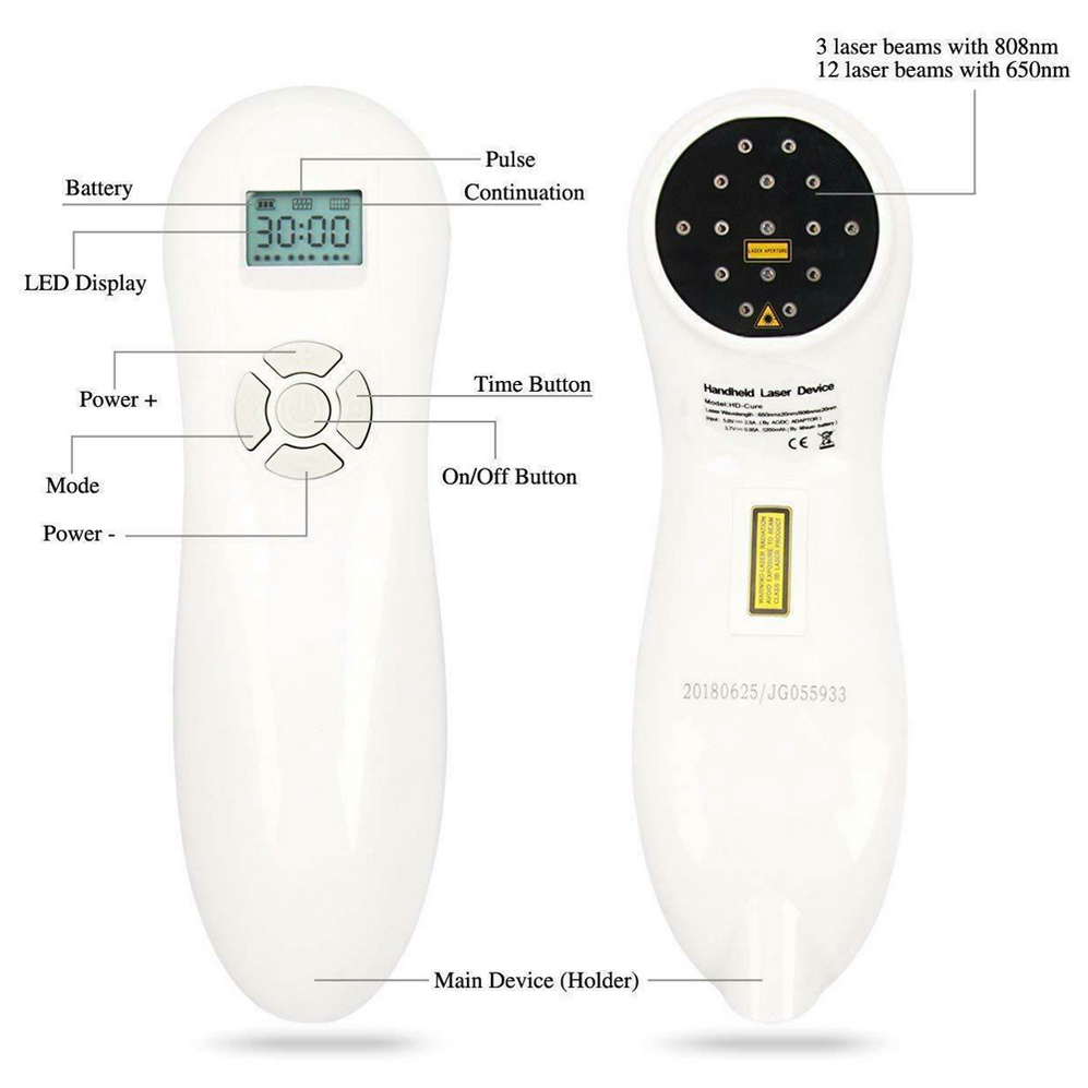 Medical Cold Laser Therapy Device Wounds Joint Muscle Knee Back Shoulder Foot Neck Rheumatic Pain Free Goggle in Massage Relaxation from Beauty Health