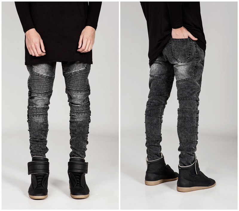 Fashion Men's Baggy Hip Hop Jeans 2017 Plus Size Multi Pockets Skateboard Cargo Jeans For Men Tactical Denim Joggers moruancle men s baggy cargo jeans pants loose straight tactical denim trousers for big and tall size 29 46 side zipper pockets