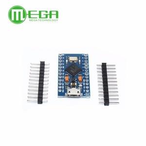 Image 4 - 5 pièces Pro Micro ATmega32U4 5V/16MHz Module avec 2 rangées de broches en tête MINI USB MICRO USB pour Arduino