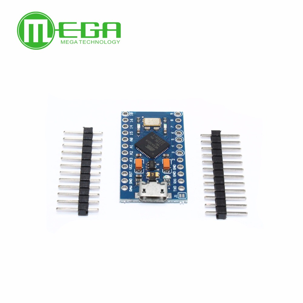 Image 3 - 5pcs Pro Micro ATmega32U4 5V/16MHz Module with 2 row pin header MINI USB MICRO USB-in Integrated Circuits from Electronic Components & Supplies