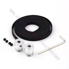 2x MXL 16T 5mm Bore Aluminum Pulleys & 2M Timing Belt width 6mm Set For 3D Printer Reprap Prusa Mendel Free Shipping