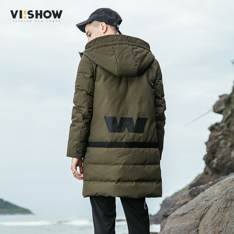 VIISHOW White Duck Down Long Jacket Men Thicken Warm Jacket Autumn Winter Windbreak Parka Slim Fit Casual Outwear Coat YC2655174