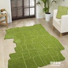 Пасторальный стиль, зеленые ковры для гостиной, спальни, ковер на выбор, фирменный ковер для кухни, коврики и ковры для ванной комнаты
