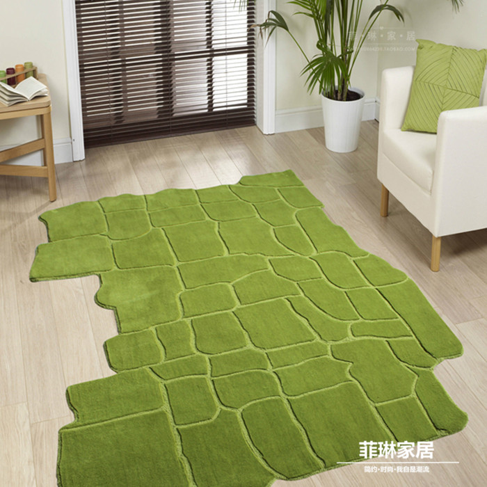 Buy pastoral style green carpets for How to buy an area rug for living room