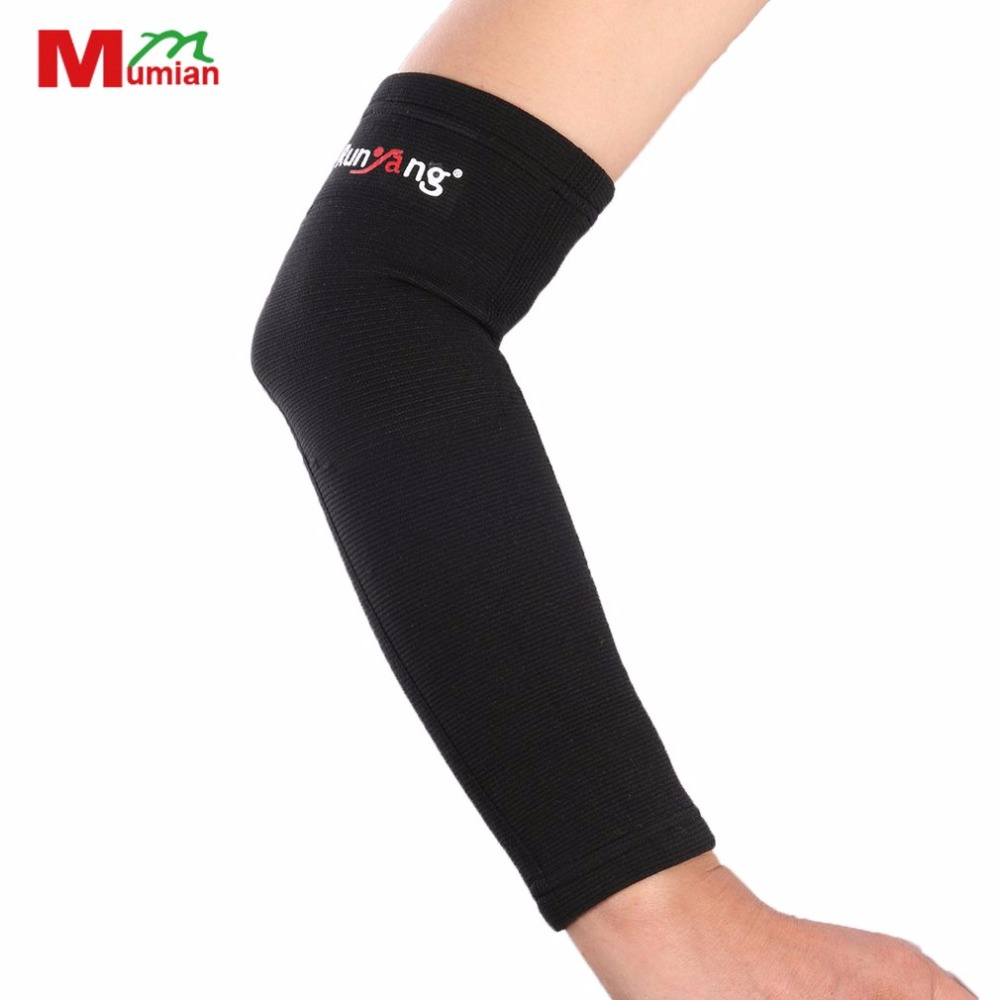 Mumian 1PC High Quality Breathable Men Women Sport Elbow Support Classic Black Arm Sleeve Elbow Protect Pad S/M/L basketball New