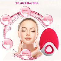 Facial Cleaner Device Ultrasonic Facial CleanisngTool Face Cleansing Pads Device slim Waterproof Exfoliation Deep Scrubbing Spa