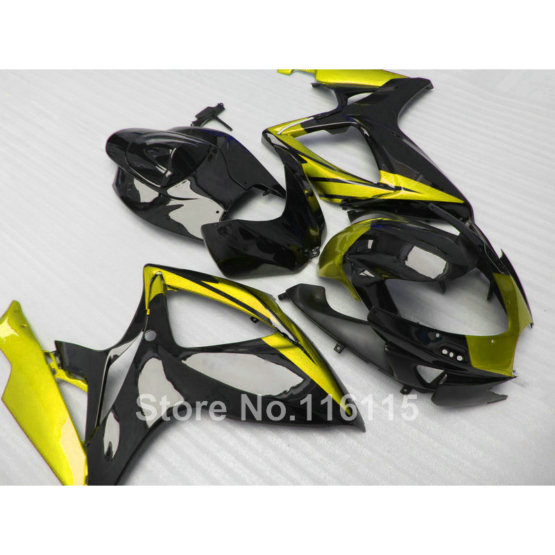 100% Fit for SUZUKI K6 K7 2006 2007 GSX-R600 GSX-R750 green black 06 <font><b>07</b></font> <font><b>GSXR</b></font> <font><b>600</b></font> 750 <font><b>fairing</b></font> <font><b>kit</b></font> <font><b>fairings</b></font> set NG98 image