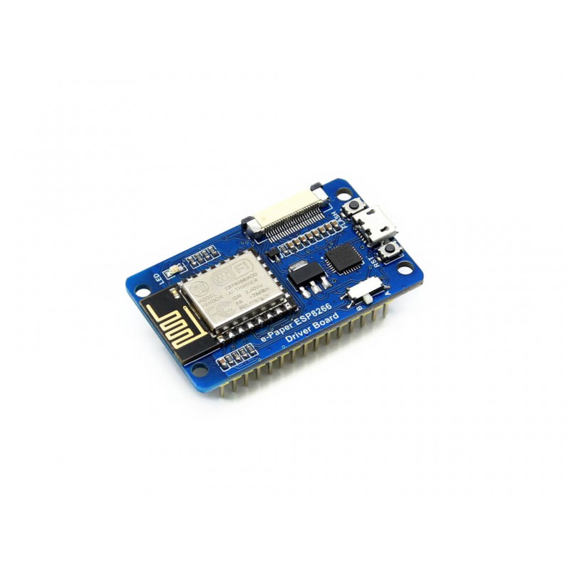 Universal e-Paper Driver Board with WiFi SoC ESP8266 onboard, supports various Waveshare SPI e-Paper raw panels