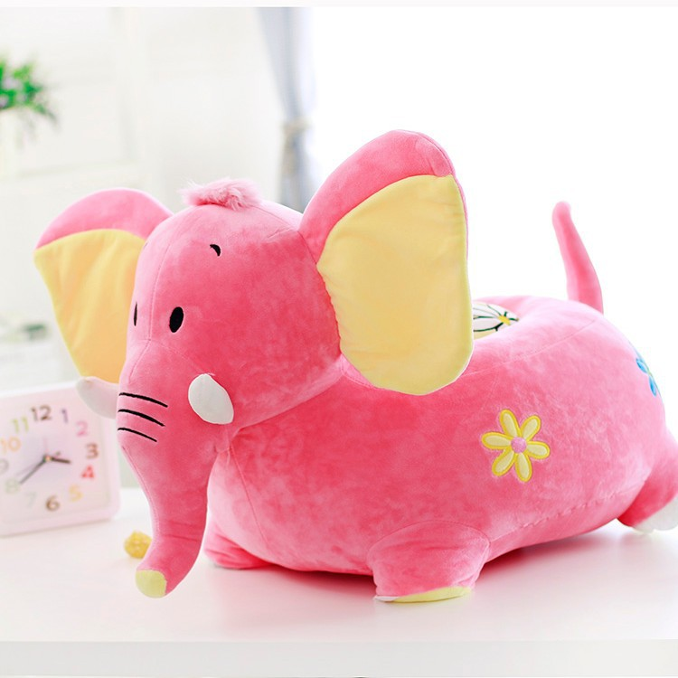hot pink cartoon elephant plush toy about 54x45cm sofa pillow zipper closure,cushion ,baby toy,birthday gift Xmas gift d2530