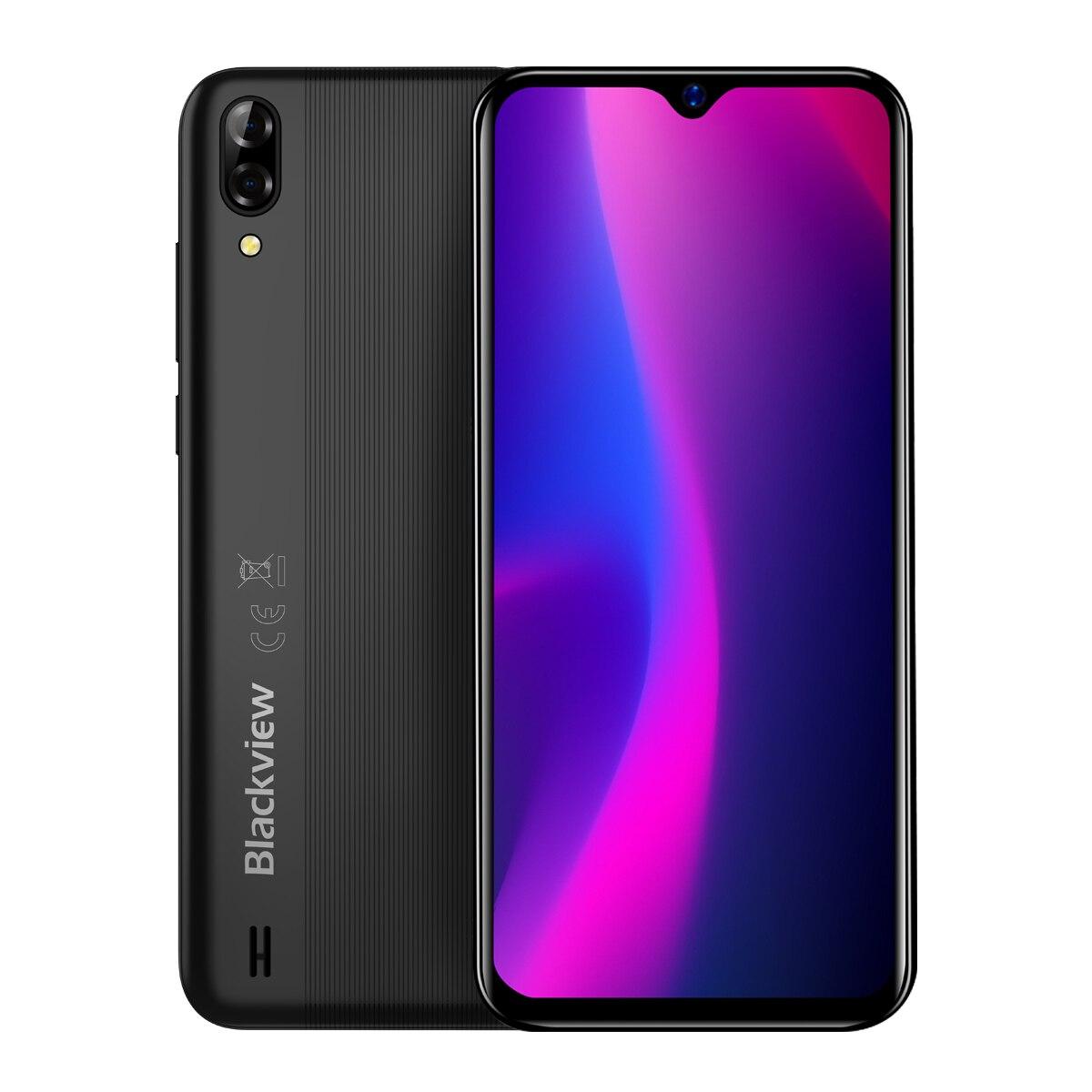 Nouveauté Blackview A60 Smartphone 4080mAh batterie 19:9 6.1 pouces double caméra 1GB RAM 16GB ROM téléphone portable 13MP + 5MP caméra - 4