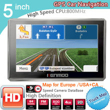 New 5 inch HD GPS Navigation 800Mhz/FM/8GB/DDR3 2018 Maps For Russia/Belarus Europe/USA+Canada TRUCK Navi Camper Caravan(China)