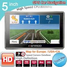 New 5 inch HD GPS Navigation 800Mhz/FM/8GB/DDR3 2018 Maps For Russia/Belarus Europe/USA+Canada TRUCK Navi Camper Caravan