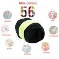 Nova Moda 50g 1 Pc Lã Super Macia Suave E Natural de Seda Fibra de lã de Algodão Mão Tricô Fio de Bambu Natural Do Bebê DIY lã