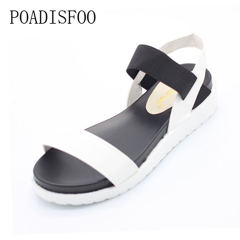 2017 summer  fashion Wedge women Leopard Print Casual Sandals Strip Low Platform Open Toe Shoes For Woman  .XL-198 mudibear women sandals pu leather flat sandals low wedges summer shoes women open toe platform sandals women casual shoes