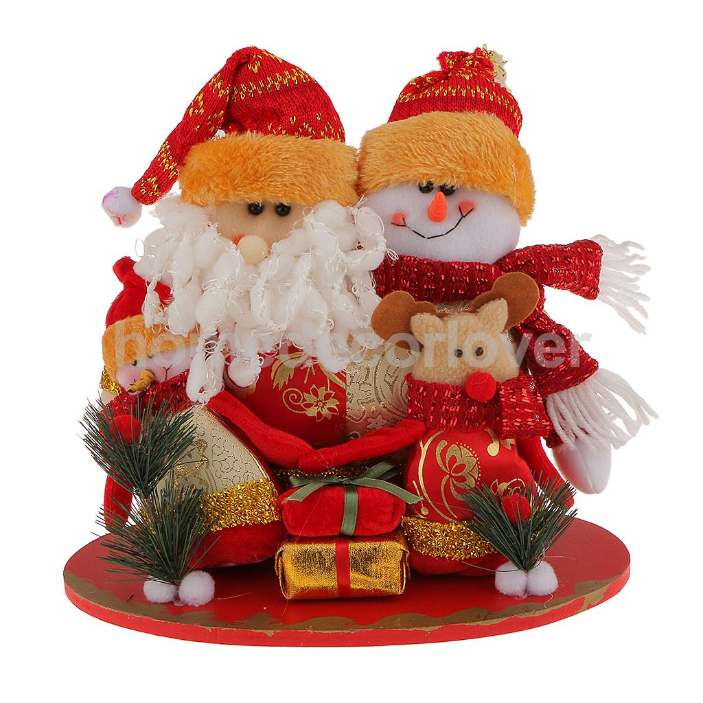wooden fabric santa reindeer gift freestanding christmas family decoration ornaments craft embellishment in party diy decorations from home garden on
