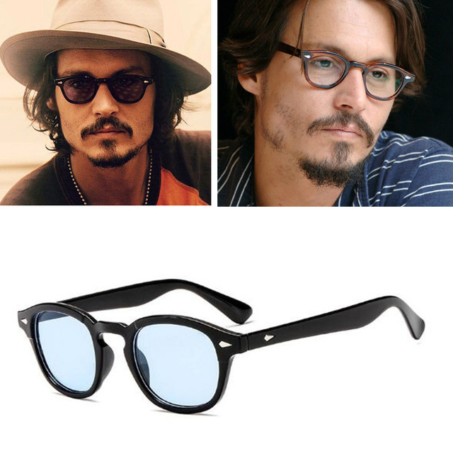 4cc541a987 2018 Johnny Depp Style Glasses Men Retro Vintage Prescription Glasses Women  Optical Spectacle Frame Clear lens zonnebril mannen