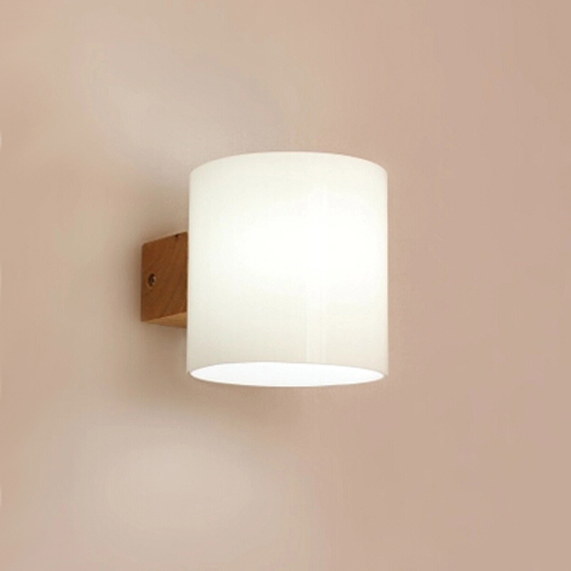 ФОТО 2pcs/lot Modern wooden Wall Lamp Lights For Bedroom/bathroom Home Lighting Wall Sconce solid wooden wall light