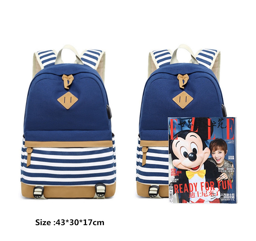 Hot Sale Canvas Backpack Women School Bags for Girls Large Capacity USB Charge Laptop Backpack Travel Hot Sale Canvas Backpack Women School Bags for Girls Large Capacity USB Charge Laptop Backpack Travel Rucksack for Teenagers
