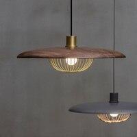 Нордическая лампа светодиодный подвесные светильники дерево Hanglamp Спальня светильники обеденный ресторанные подвесные светильники Лофт Д