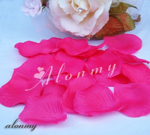 Free Shipping 1000 PCS Rose Pink Silk Rose Petals Wedding Decoration Flowers Flower/Party Artificial Petals ALM2005