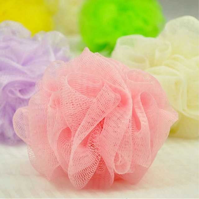 New Loofah Flower Bath Ball Bath Tubs Cool Ball Bath Towel Scrubber Body Cleaning Mesh Shower Wash Sponge  Free shipping