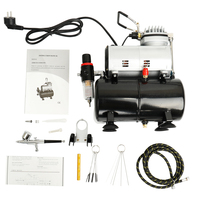Professional Oil less Airbrush Kit Quiet Air Compressor High pressure Pump Woodwork Air Spray Paint Compressor Blast Pump Set