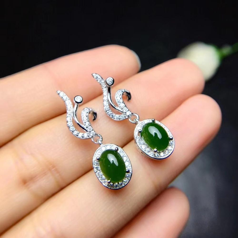 Natural green jasper gem jewelry sets natural gemstone ...  |Green Jasper Jewelry