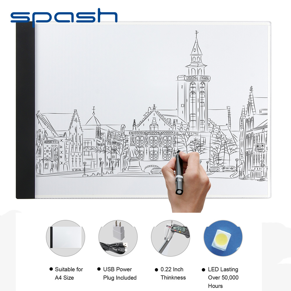 Spash Tracing Licht Box Dbmier A4S USB Powered Licht Pad Artcraft Tracing LED Licht Bord für Zeichnung Tracing Skizzieren
