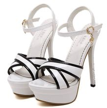 Size 4~8 Platform Summer Women Shoes Crystal High Heels Shoes New 2016 Golden Women Pumps zapatos mujer (Check Foot Length)