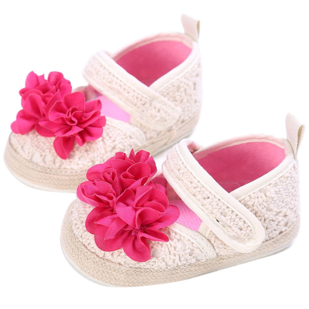TELOTUNY Newborn Baby Kids Girls Flowers Hollow Shoes Toddler Soft Sole Shoes comfortable Crib Shoes Soft Cloth S3MAR1